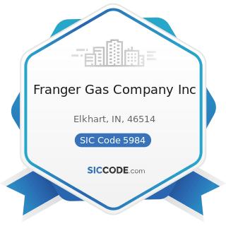 Franger Gas Company Inc - SIC Code 5984 - Liquefied Petroleum Gas (Bottled Gas) Dealers