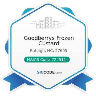 Goodberrys Frozen Custard - NAICS Code 722511 - Full-Service Restaurants