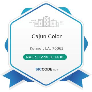 Cajun Color - NAICS Code 811430 - Footwear and Leather Goods Repair