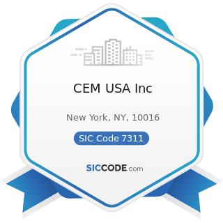 CEM USA Inc - SIC Code 7311 - Advertising Agencies