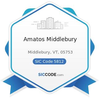 Amatos Middlebury - SIC Code 5812 - Eating Places