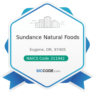 Sundance Natural Foods - NAICS Code 311942 - Spice and Extract Manufacturing