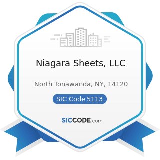 Niagara Sheets, LLC - SIC Code 5113 - Industrial and Personal Service Paper