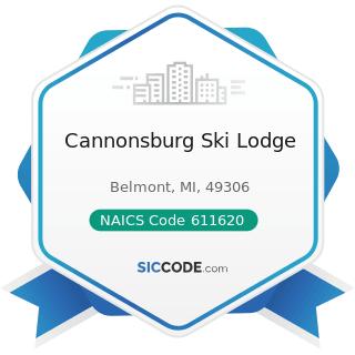Cannonsburg Ski Lodge - NAICS Code 611620 - Sports and Recreation Instruction