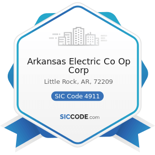 Arkansas Electric Co Op Corp - SIC Code 4911 - Electric Services