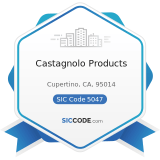 Castagnolo Products - SIC Code 5047 - Medical, Dental, and Hospital Equipment and Supplies