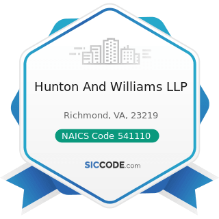 Hunton And Williams LLP - NAICS Code 541110 - Offices of Lawyers