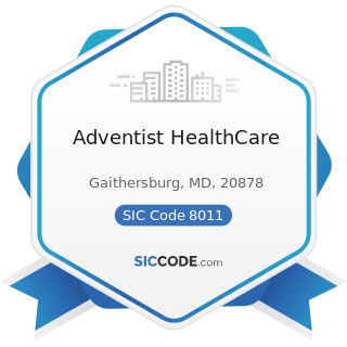 Adventist Healthcare Zip 20878 Naics 621111