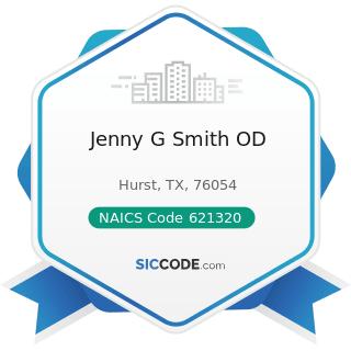 Jenny G Smith OD - NAICS Code 621320 - Offices of Optometrists