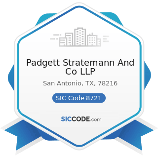 Padgett Stratemann And Co LLP - SIC Code 8721 - Accounting, Auditing, and Bookkeeping Services