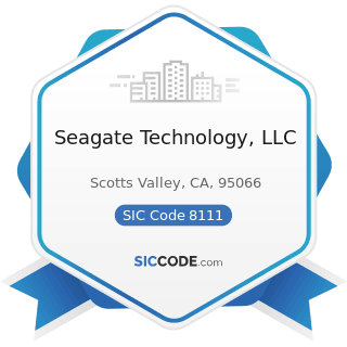 Seagate Technology, LLC - SIC Code 8111 - Legal Services