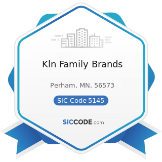 Kln Family Brands - SIC Code 5145 - Confectionery