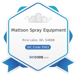 Mattson Spray Equipment - SIC Code 3563 - Air and Gas Compressors