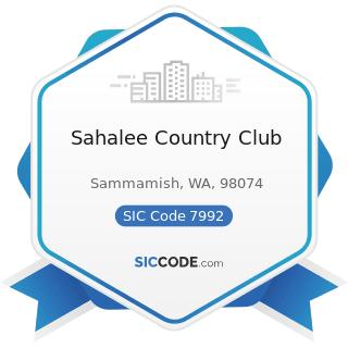 Sahalee Country Club - SIC Code 7992 - Public Golf Courses