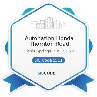 Autonation Honda Thornton Road - SIC Code 5511 - Motor Vehicle Dealers (New and Used)