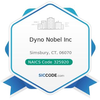 Dyno Nobel Inc - NAICS Code 325920 - Explosives Manufacturing