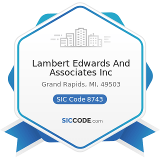 Lambert Edwards And Associates Inc - SIC Code 8743 - Public Relations Services