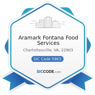 Aramark Fontana Food Services - SIC Code 5963 - Direct Selling Establishments