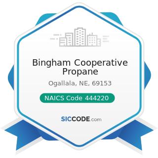 Bingham Cooperative Propane - NAICS Code 444220 - Nursery, Garden Center, and Farm Supply Stores