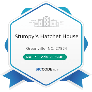Stumpy's Hatchet House - NAICS Code 713990 - All Other Amusement and Recreation Industries