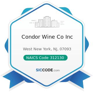 Condor Wine Co Inc - NAICS Code 312130 - Wineries