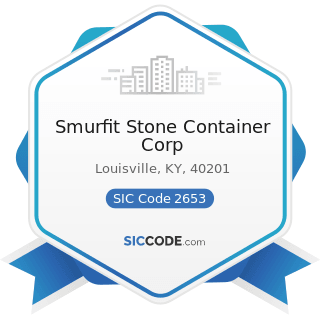 Smurfit Stone Container Corp - SIC Code 2653 - Corrugated and Solid Fiber Boxes