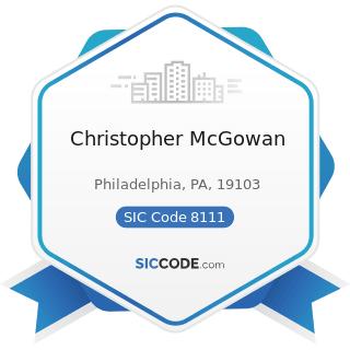 Christopher McGowan - SIC Code 8111 - Legal Services