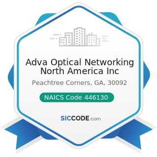 Adva Optical Networking North America Inc - NAICS Code 446130 - Optical Goods Stores