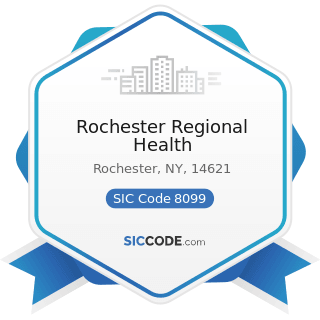 Rochester Regional Health - SIC Code 8099 - Health and Allied Services, Not Elsewhere Classified
