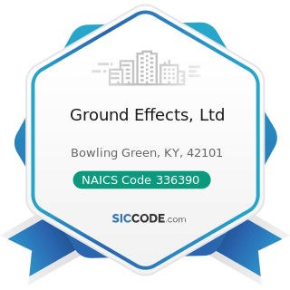 Ground Effects, Ltd - NAICS Code 336390 - Other Motor Vehicle Parts Manufacturing