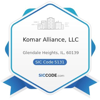 Komar Alliance, LLC - SIC Code 5131 - Piece Goods, Notions, and other Dry Good