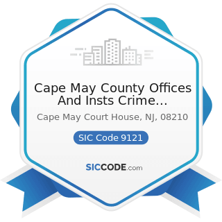 Cape May County Offices And Insts Crime Stoppers - SIC Code 9121 - Legislative Bodies
