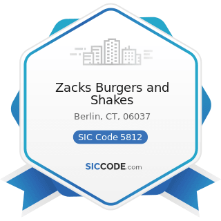Zacks Burgers and Shakes - SIC Code 5812 - Eating Places