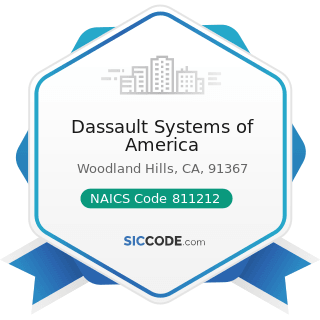 Dassault Systems of America - NAICS Code 811212 - Computer and Office Machine Repair and...