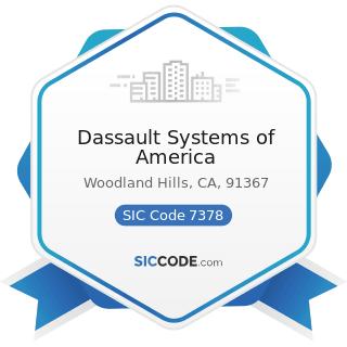 Dassault Systems of America - SIC Code 7378 - Computer Maintenance and Repair