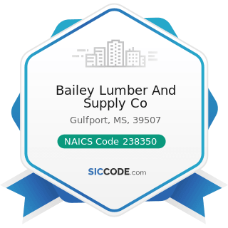Bailey Lumber And Supply Co - NAICS Code 238350 - Finish Carpentry Contractors