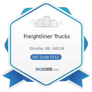 Freightliner Trucks - SIC Code 5511 - Motor Vehicle Dealers (New and Used)