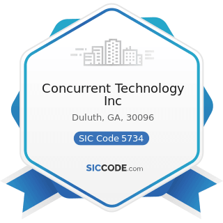Concurrent Technology Inc - SIC Code 5734 - Computer and Computer Software Stores