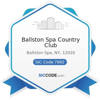 Ballston Spa Country Club - SIC Code 7992 - Public Golf Courses