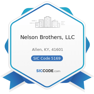 Nelson Brothers, LLC - SIC Code 5169 - Chemicals and Allied Products, Not Elsewhere Classified