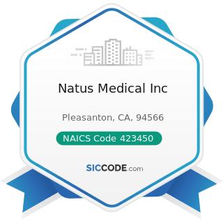 Natus Medical Inc - NAICS Code 423450 - Medical, Dental, and Hospital Equipment and Supplies...
