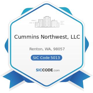 Cummins Northwest, LLC - SIC Code 5013 - Motor Vehicle Supplies and New Parts
