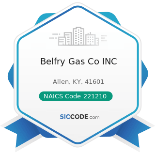 Belfry Gas Co INC - NAICS Code 221210 - Natural Gas Distribution