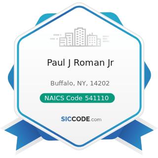 Paul J Roman Jr - NAICS Code 541110 - Offices of Lawyers