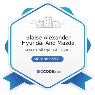 Blaise Alexander Hyundai And Mazda - SIC Code 5511 - Motor Vehicle Dealers (New and Used)