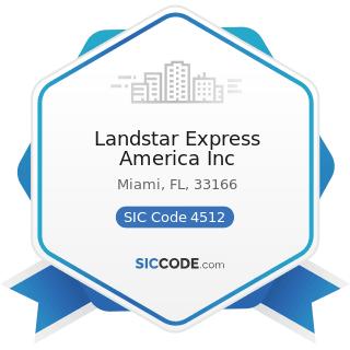 Landstar Express America Inc - SIC Code 4512 - Air Transportation, Scheduled