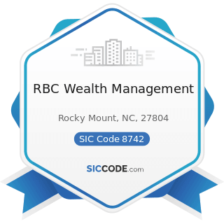 RBC Wealth Management - SIC Code 8742 - Management Consulting Services