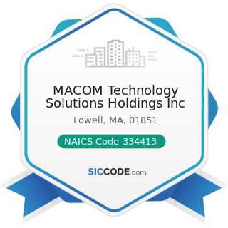 MACOM Technology Solutions Holdings Inc - NAICS Code 334413 - Semiconductor and Related Device...