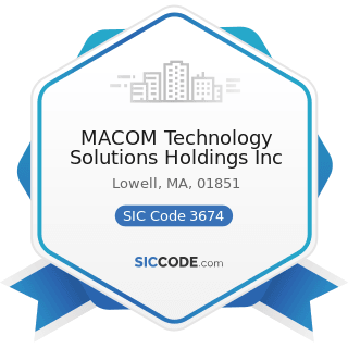 MACOM Technology Solutions Holdings Inc - SIC Code 3674 - Semiconductors and Related Devices