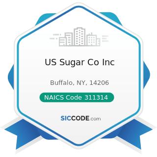 US Sugar Co Inc - NAICS Code 311314 - Cane Sugar Manufacturing